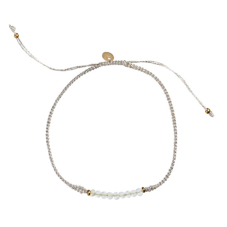 Stine A Candy Bracelet Green Amethyst og Sølv Bånd