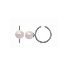 Stine A Rose Pearl Ear Cuff Rhodineret