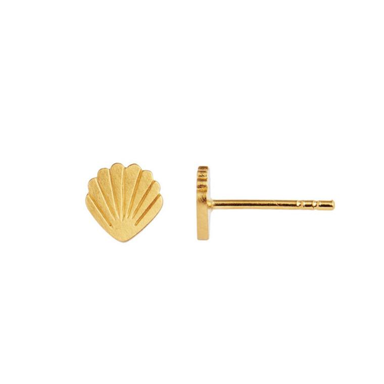Stine A Petit Shell Ørestik Guld