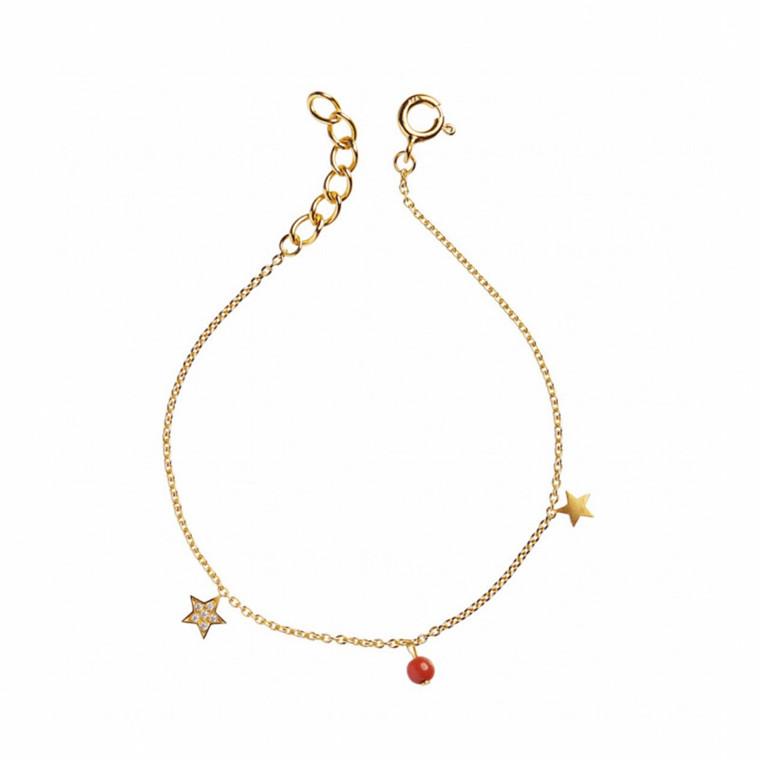 Stine A Armbånd Petit Stars-Koral Sten
