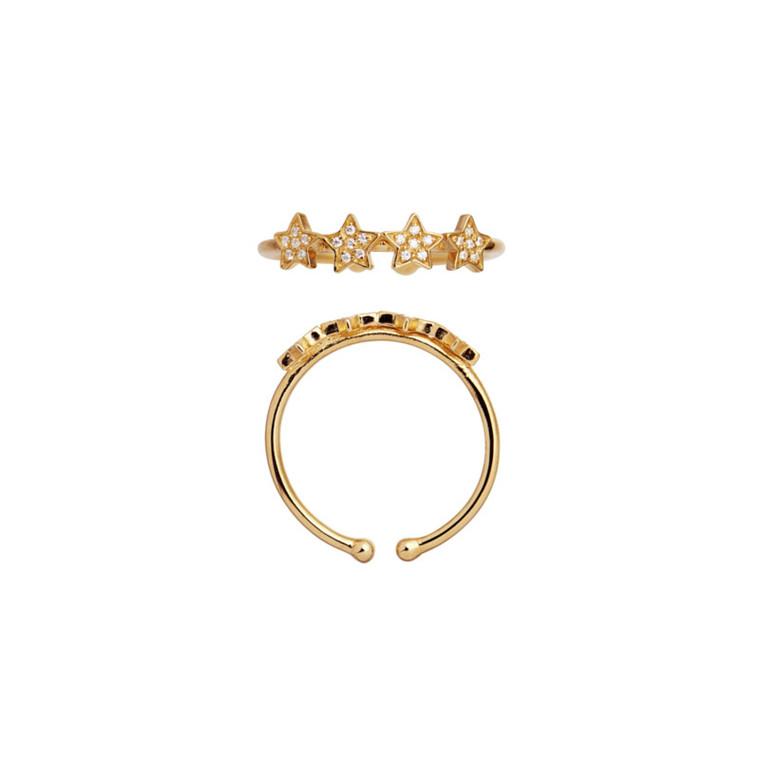 Stine A Ring Vintage Stars Guld-Zirkoner