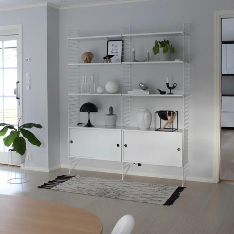String Opstilling 2 Kabinetter Hvid