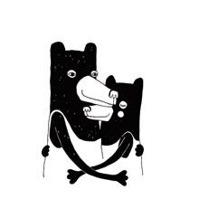 Strups Bear Hug Print