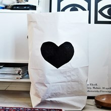 Tellkiddo Paperbag Heart black