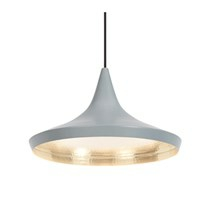 Tom Dixon Lampe Beat Light Wide grå