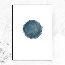 Trine Holbæk Print Blue Water Moon