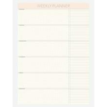 Vissevasse Weekly Planner A4 Notesblok Hvid