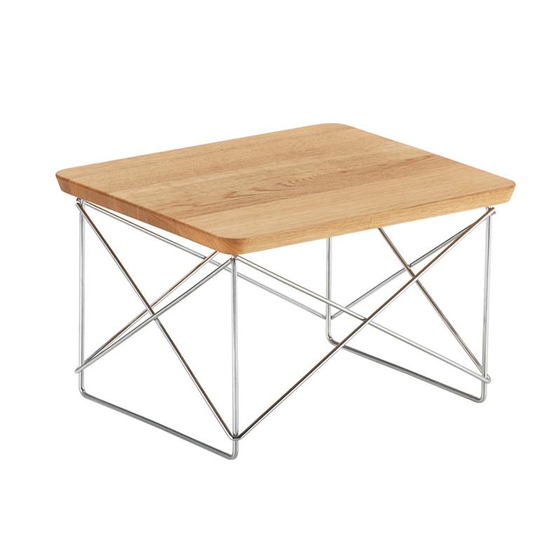 Vitra LTR Occasional Table - Massiv eg, Krom Stel