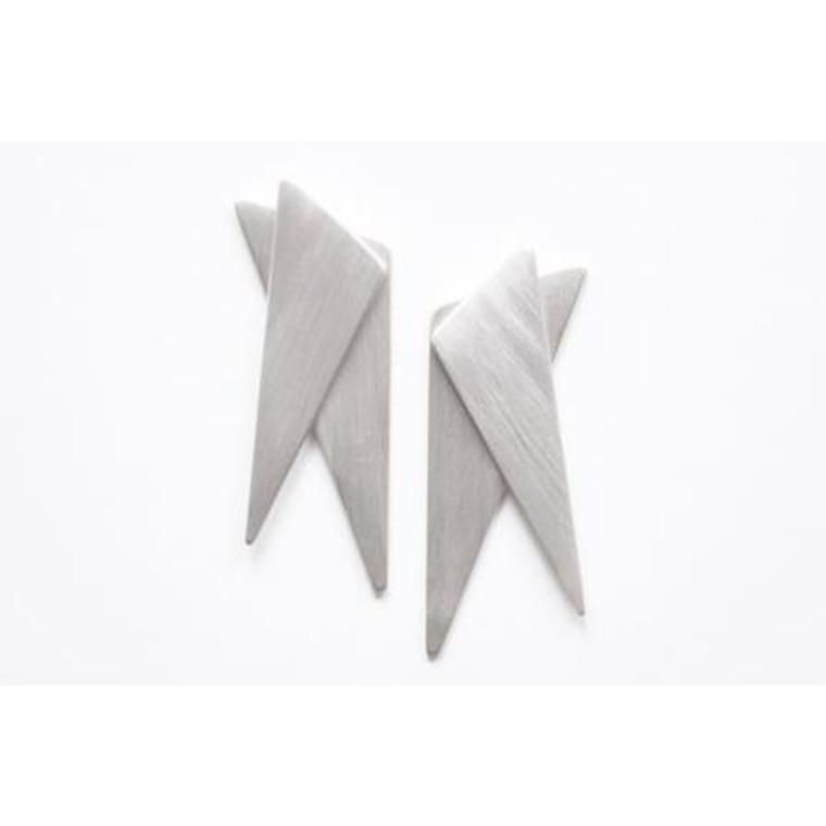 Zarah Voigt Origami Kyoka Øreringe Sølv
