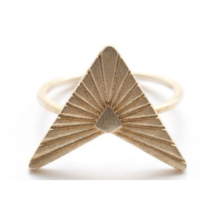 Zarah Voigt Moon Ray Ring Guld