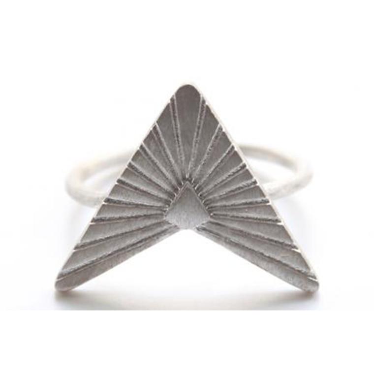 Zarah Voigt Moon Ray Ring Sølv