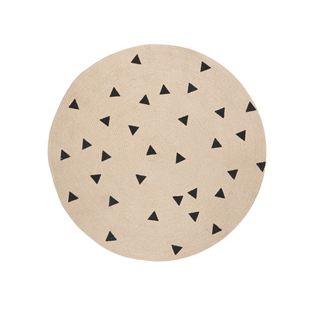 Ferm Living Rundt Tæppe Triangles