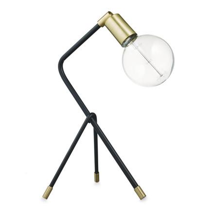 H. Skjalm P. Bordlampe 3-Benet Sort-Messing