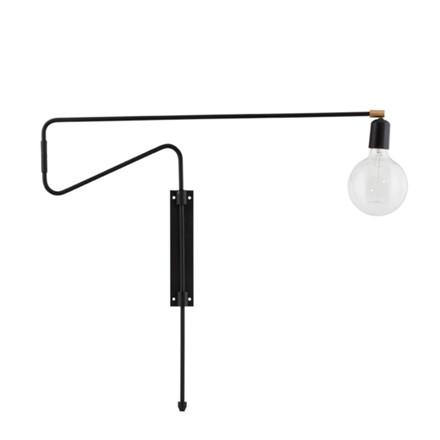 House Doctor Væglampe Swing Sort L70