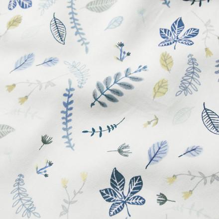 Cam Cam Sengetøj Pressed Leaves Blue