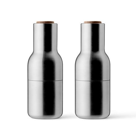 Smarte ressurser Menu Bottle Grinder - Salt og Peber kværn - Børstet Stål m. Valnød BP-61