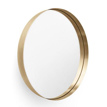 messing spejl Menu Darkly Mirror   Dekorativt og praktisk væg spejl   Børstet  messing spejl