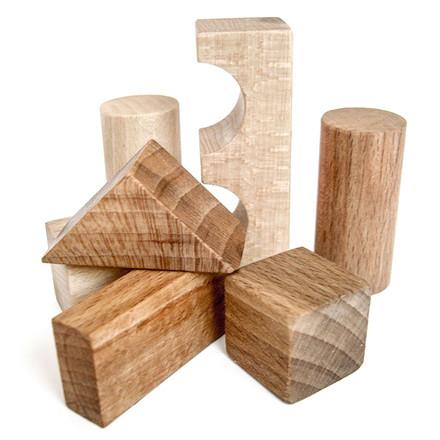Wooden Story Byggeklodser - Natur 100 stk.