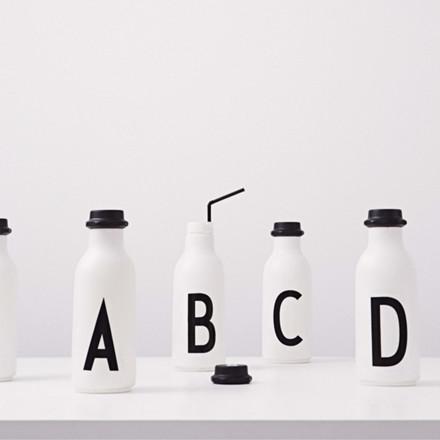 Design Letters Vandflaske m. Bogstav
