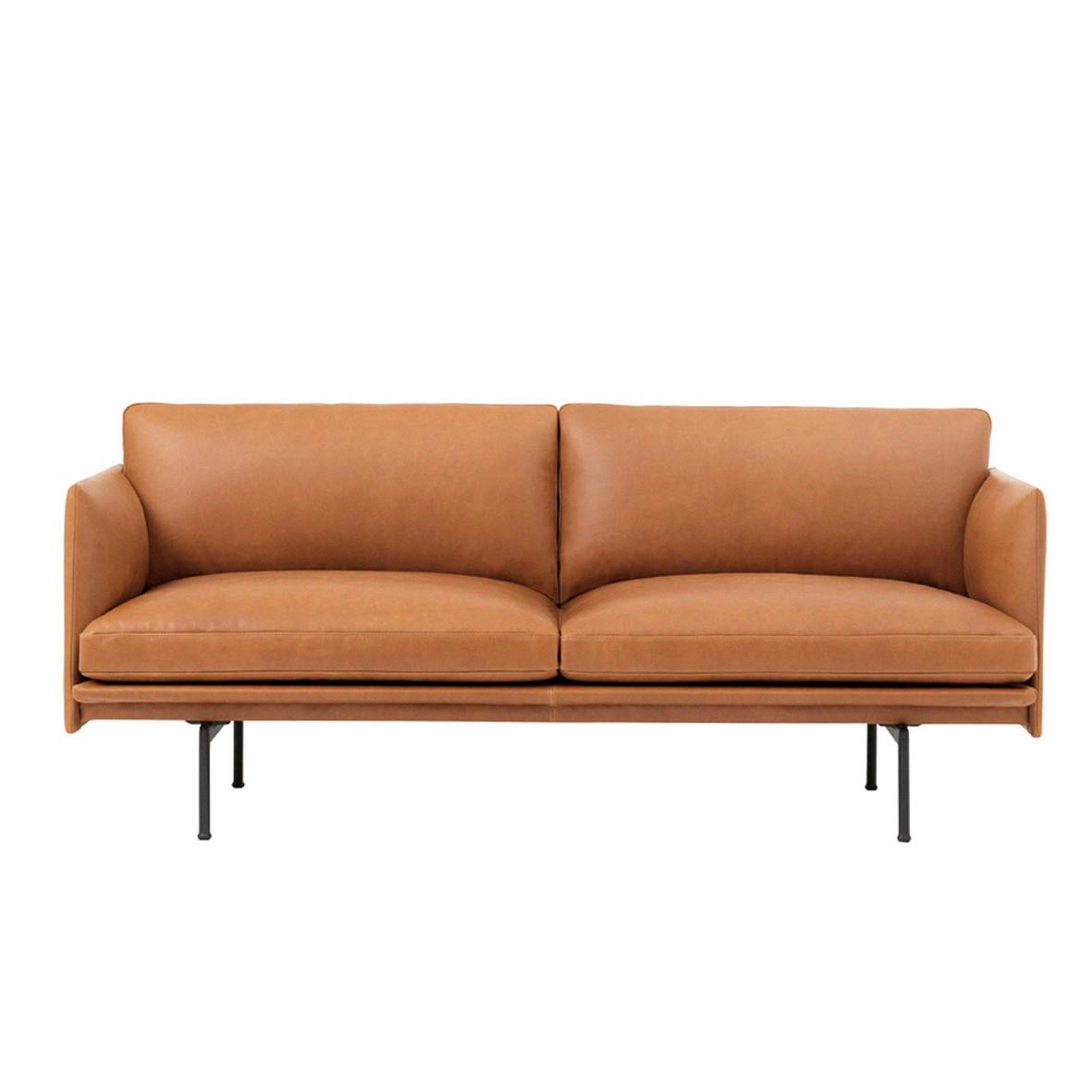 Muuto Outline Sofa Cognac Læder (2 personer)