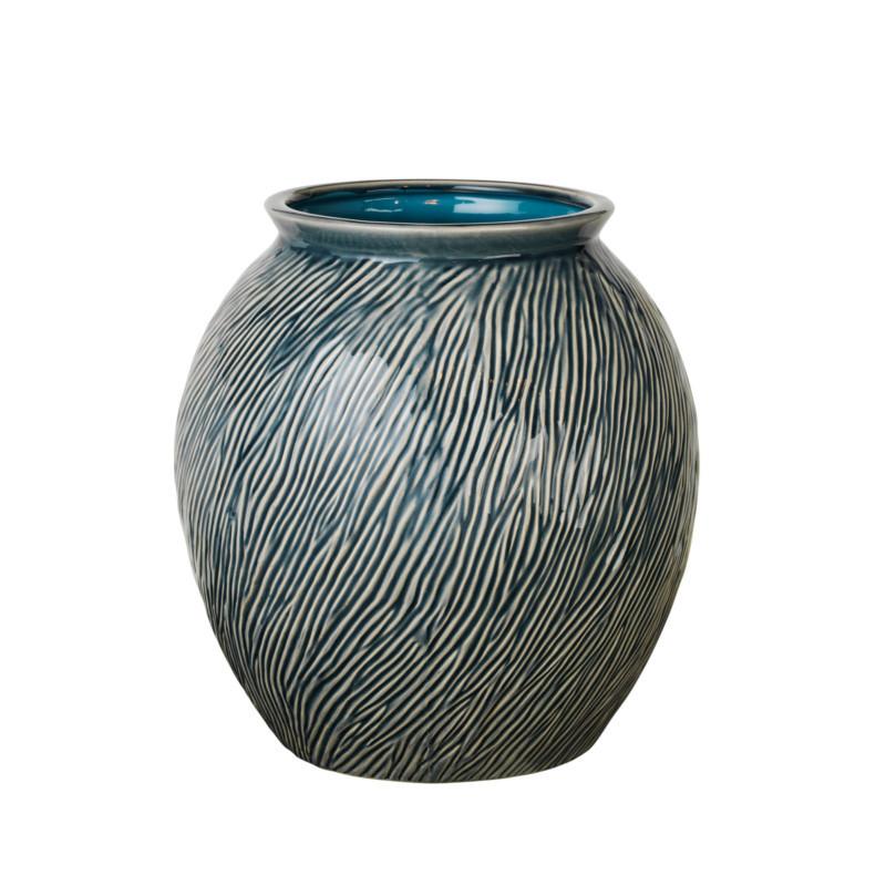 broste copenhagen sandy vase blue mirage m hurtig levering. Black Bedroom Furniture Sets. Home Design Ideas