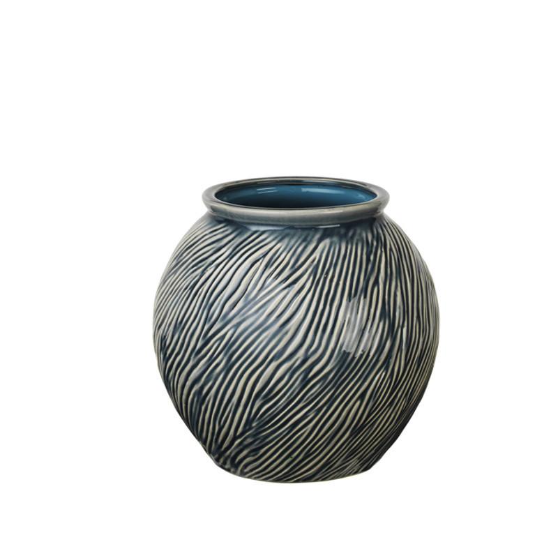 broste copenhagen sandy vase blue mirage s hurtig levering. Black Bedroom Furniture Sets. Home Design Ideas