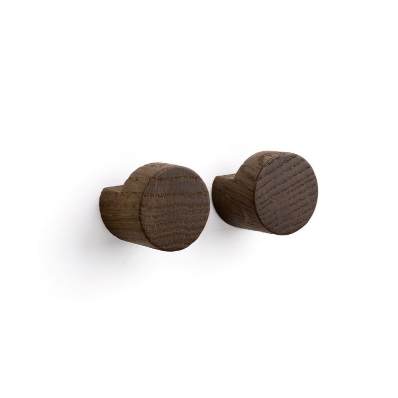 knager til badeværelse By Wirth   Sæt med 2 stk. WoodKnot knager i smoked knager til badeværelse