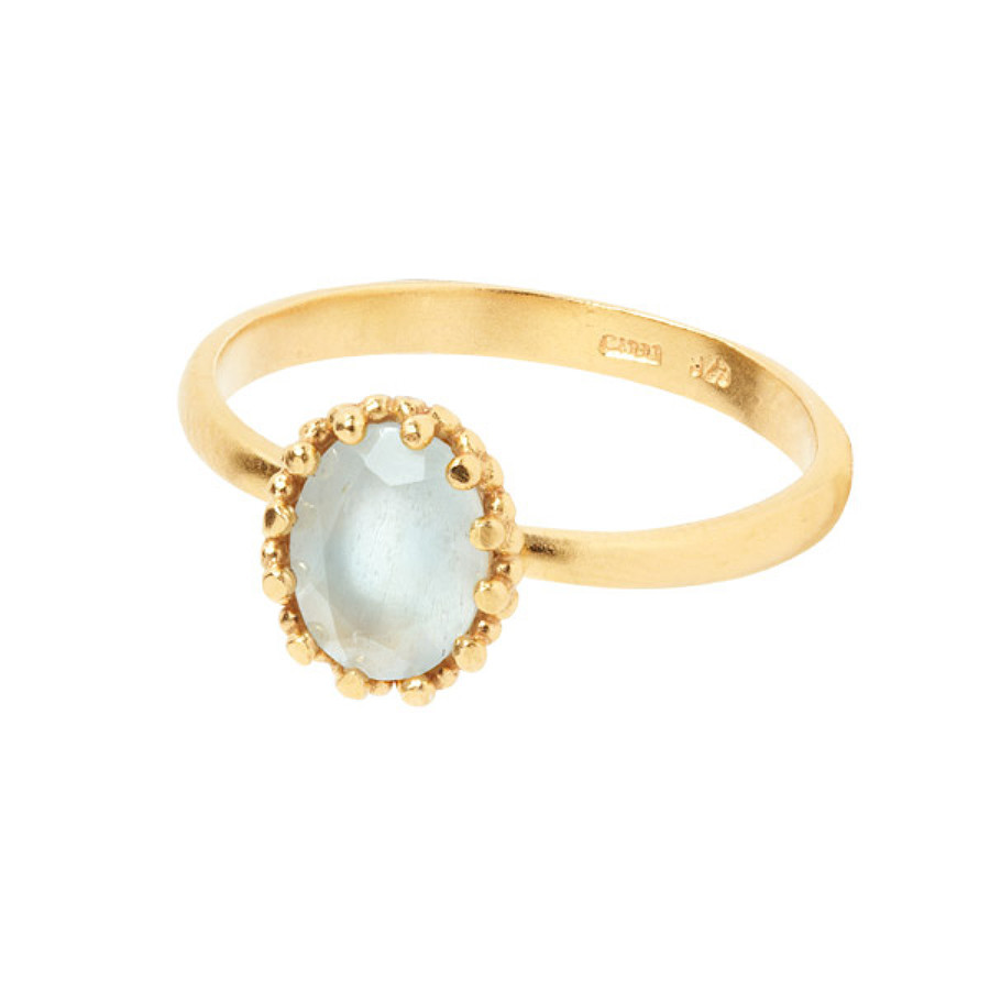 Carré Jewellery Gilded Marvels Ring Guld Akvamarin (50)