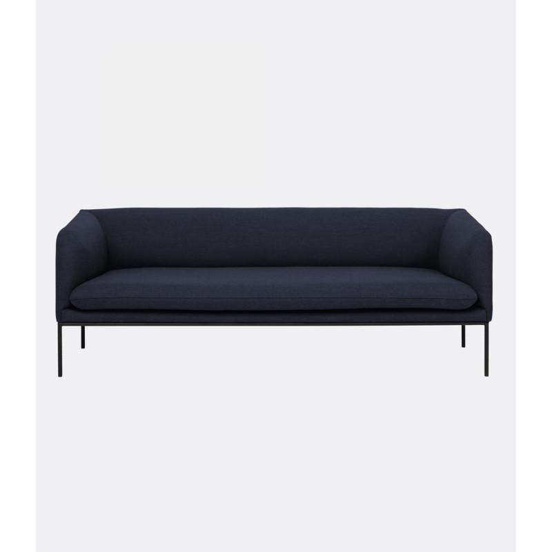 Ferm Living Turn Sofa Fiord Solid Mørk Blå (2 personer)