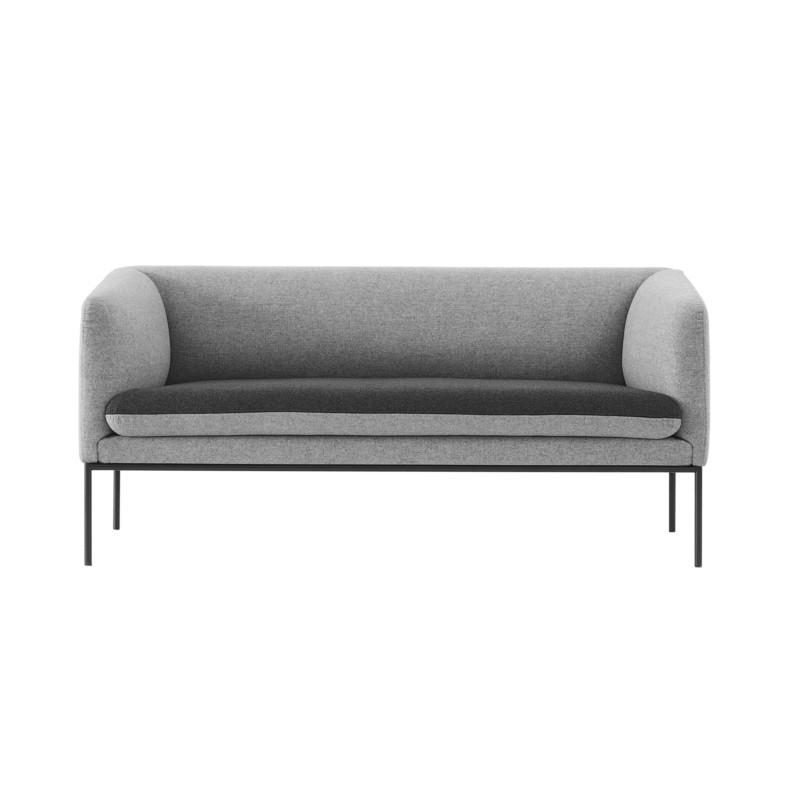 Ferm Living Turn Sofa Wool Lys Grå Seat Mørk Grå (2 personer)
