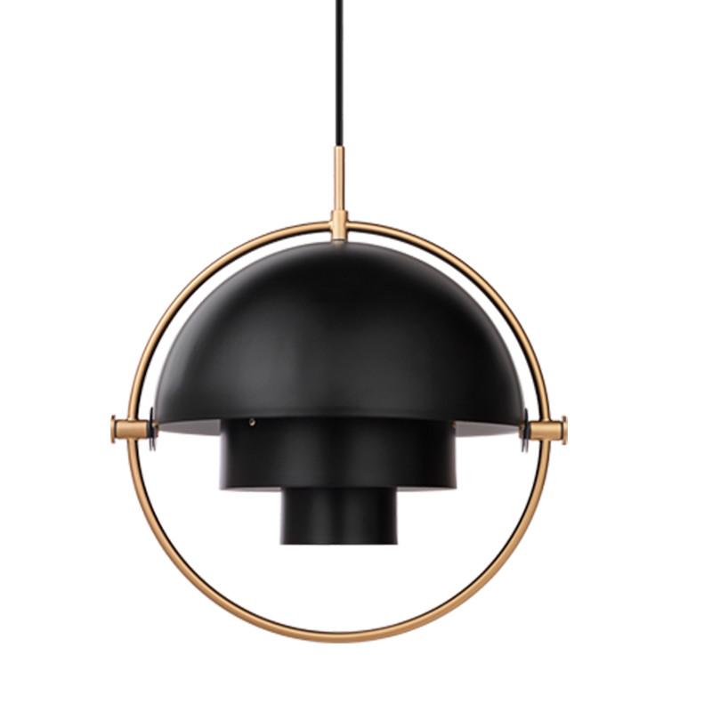 gubi multi lite pendel sort og messing gubi lampe af louis weisdorf. Black Bedroom Furniture Sets. Home Design Ideas