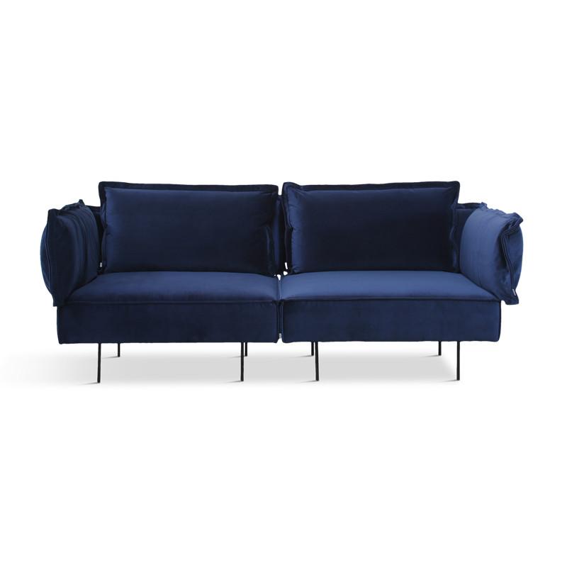 Handvärk 2 Personer Sofa Royal Blå