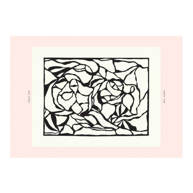 Plakat fra Hein Studio - Kunstplakat I see you pale pink
