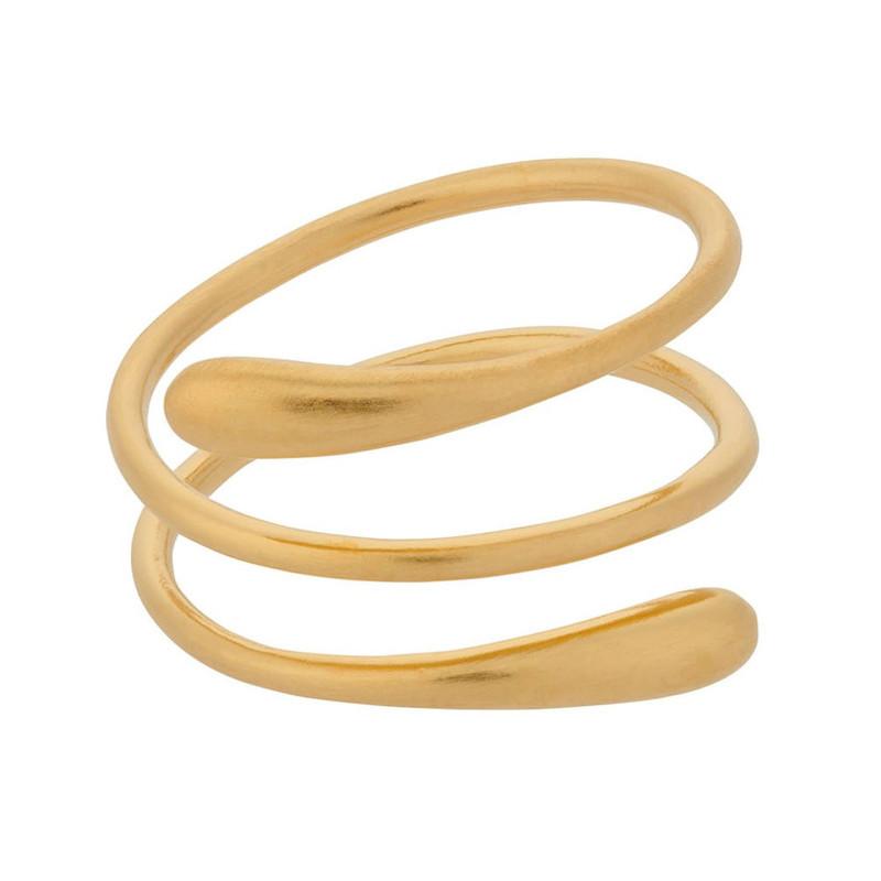 Pernille Corydon Waterdrop Ring Forgyldt (52)