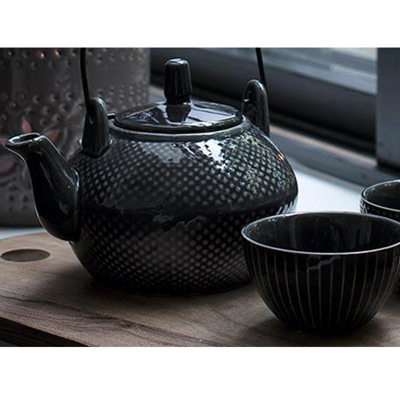 a simple mess tepotte aia keramik tekande af louise dorph. Black Bedroom Furniture Sets. Home Design Ideas