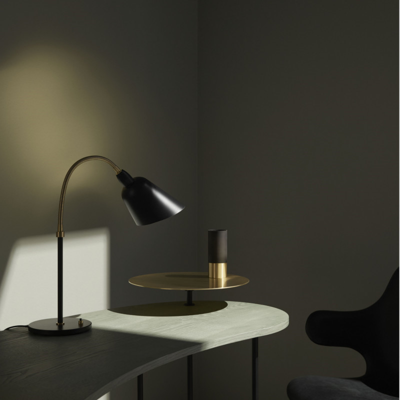 arne jacobsen designer bellevue bordlampe aj8 i sort og. Black Bedroom Furniture Sets. Home Design Ideas