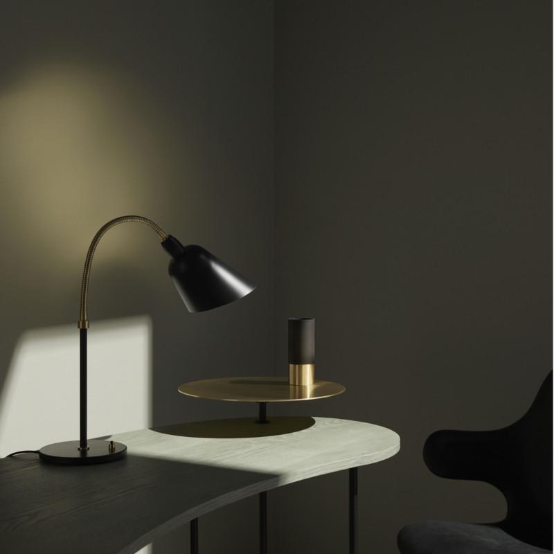 arne jacobsen designer bellevue bordlampe aj8 i sort og. Black Bedroom Furniture Sets. Home Design Ideas