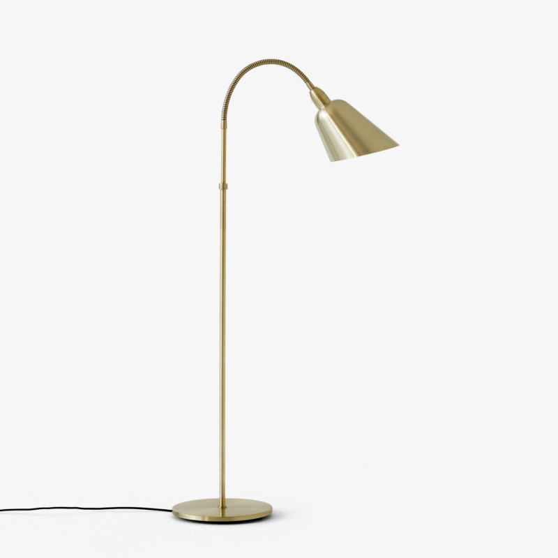 Messing AJ7 Bellevue gulvlampe i design af Arne Jacobsen fra And Tradition