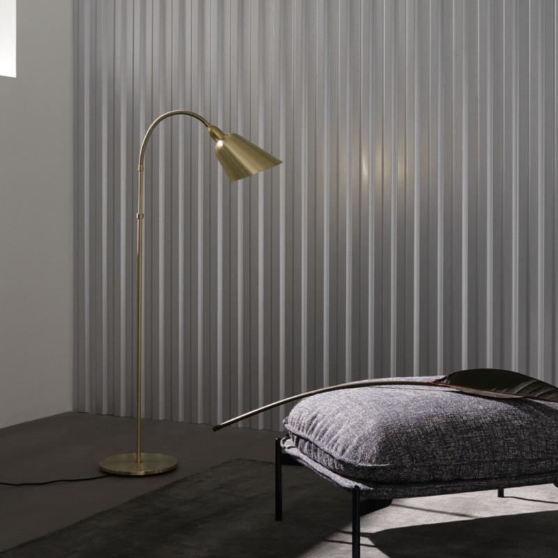 Messing AJ7 Bellevue gulvlampe i design af Arne Jacobsen
