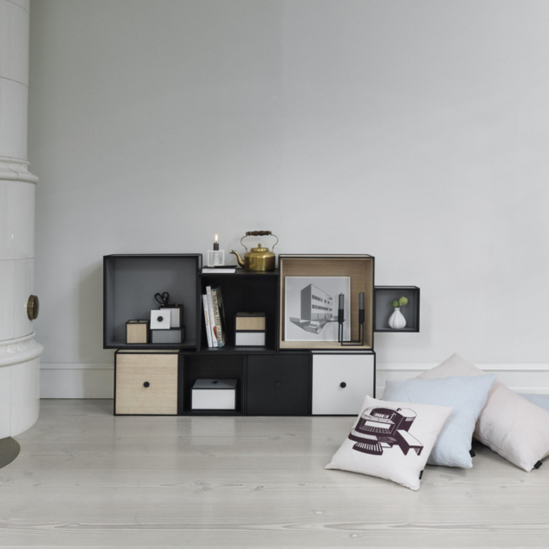 by lassen frame reol eg uden l ge mogens lassen frame bokse. Black Bedroom Furniture Sets. Home Design Ideas
