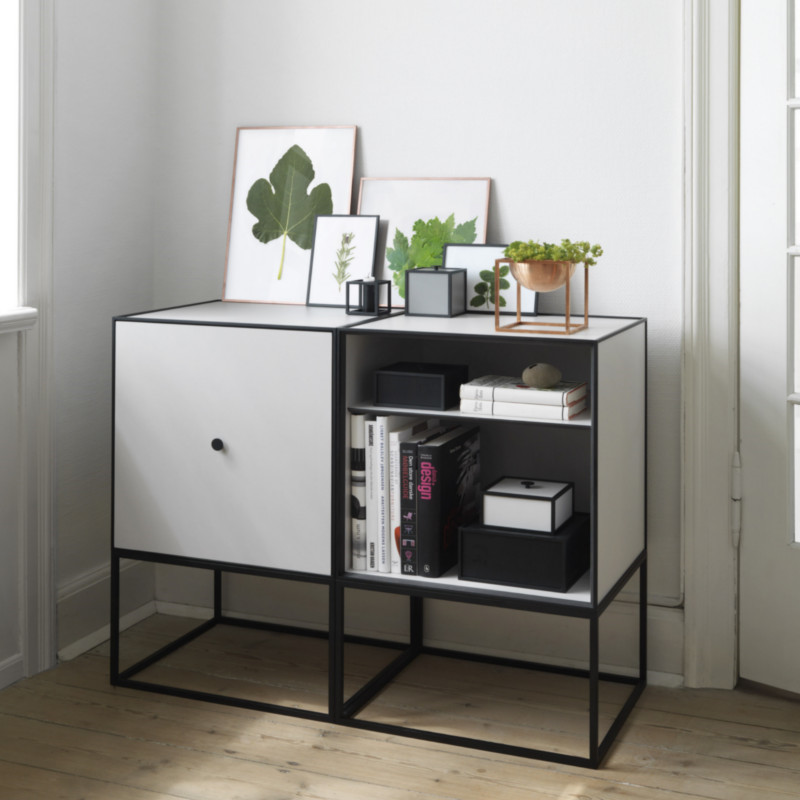 by lassen frame sideboard 49 st vet gr n hurtig levering. Black Bedroom Furniture Sets. Home Design Ideas