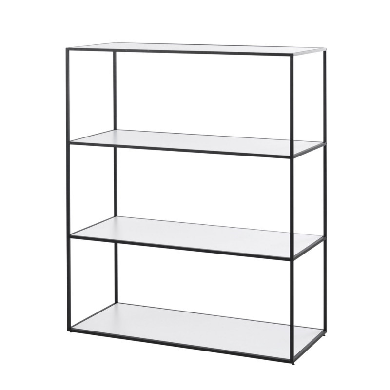 Twin Bookcase reol i sort stor fra By Lassen - Minimalistisk By ...