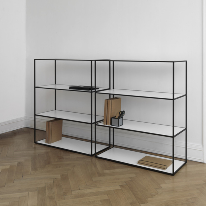 twin reol i sort fra by lassen indret dit hjem med flotte by lassen reoler. Black Bedroom Furniture Sets. Home Design Ideas