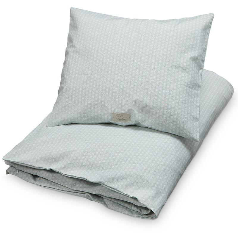 lækkert sengetøj Cam Cam Sengetøj Sashiko Mint Gots   Køb Cam Cam lækkert sengetøj