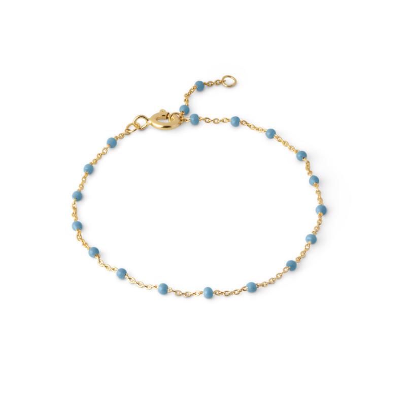 ENAMEL Copenhagen Lola Blue Armbånd Guld