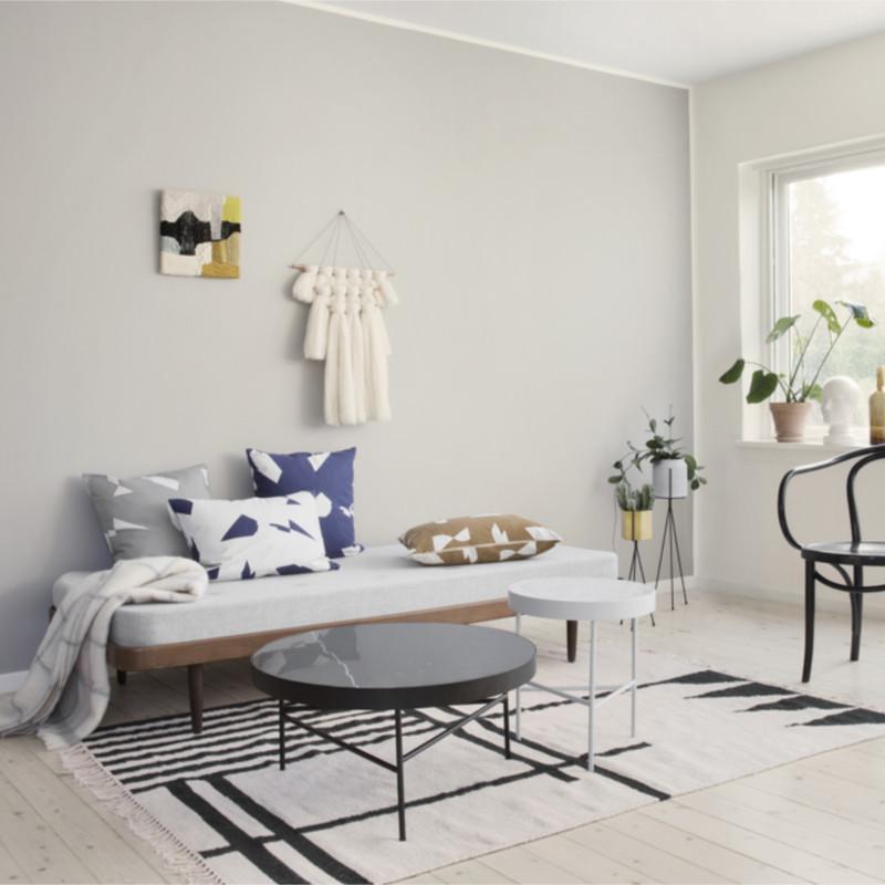 ferm living kelim rug black lines large t ppe fra ferm. Black Bedroom Furniture Sets. Home Design Ideas