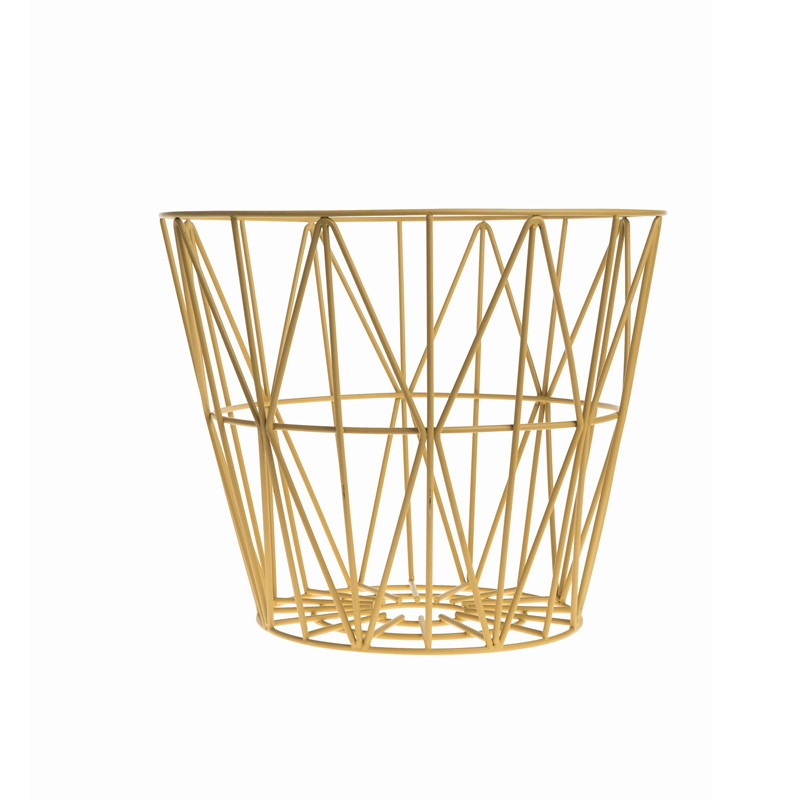 ferm living wire basket medium tr dkurv fra ferm living. Black Bedroom Furniture Sets. Home Design Ideas