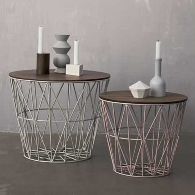 ferm living wire basket lille tr dkurv fra ferm living. Black Bedroom Furniture Sets. Home Design Ideas