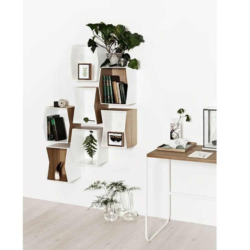 munk flip bogkasse hylde oak inside. Black Bedroom Furniture Sets. Home Design Ideas