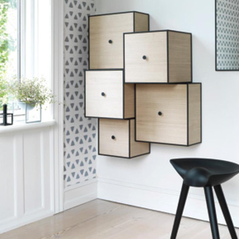 by lassen frame reol eg mogens lassen frame bokse. Black Bedroom Furniture Sets. Home Design Ideas